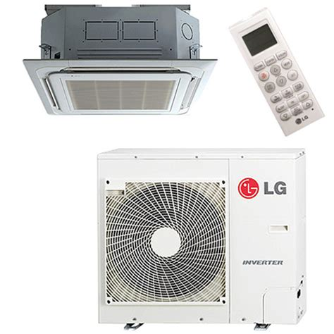 ductless mini split cassette lg single zone ceiling cassette 24k btu 17 seer ductless