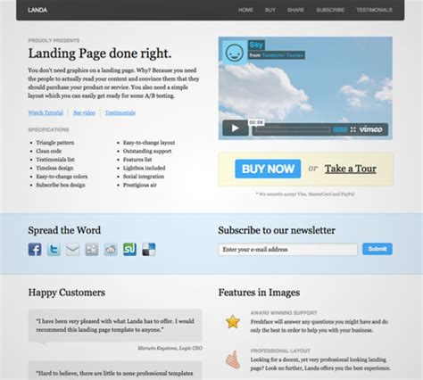 jquery landing page templates 40 new collection of professional landing page templates