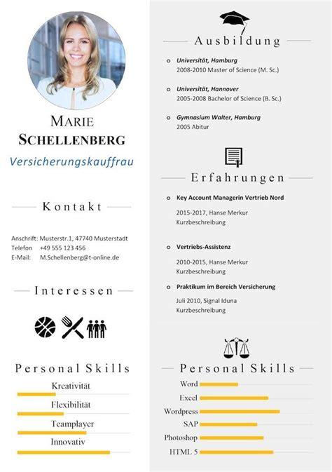 Lebenslauf Vorlage Kenntnisse 17 best ideas about vorlage bewerbung on