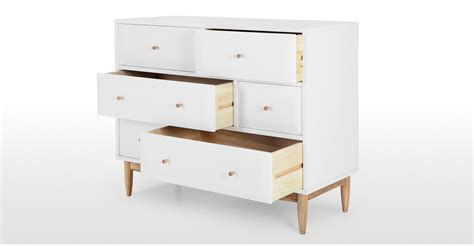 White Chest Of Drawers With Oak Top by Willow Chest Of Drawers Oak And White Made