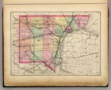 section 8 wayne county michigan map of wayne county michigan walling h f 1873