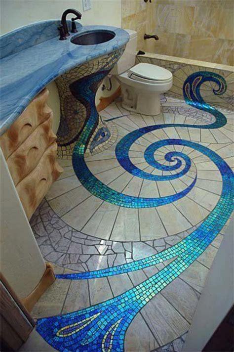 spiral floor design mosaics tile home design garden