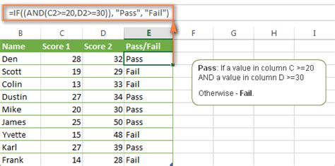 how to make a in conditions excel if function with and or conditions nested