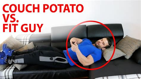 from couch potato to fit don 180 t be that person couch potato vs fit at home youtube