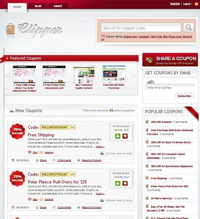 coupon site template coupon template product review clipper theme to create