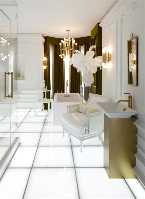glam bathroom hollywood glam design indulgences