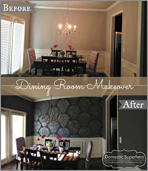 Dining Room Makeovers Before And After Dining Room Makeover Domestic