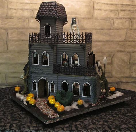 gingerbread haunted house template ghoulish gingerbread haunted house front view 7