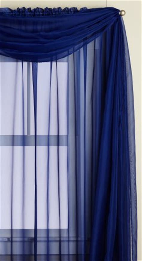 Navy Scarf Valance Editex Home Textiles Sheer Window Scarf 58 By 216