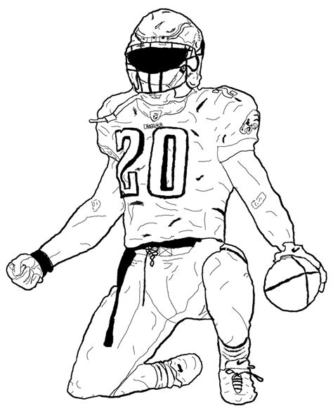 football player drawn atbonner