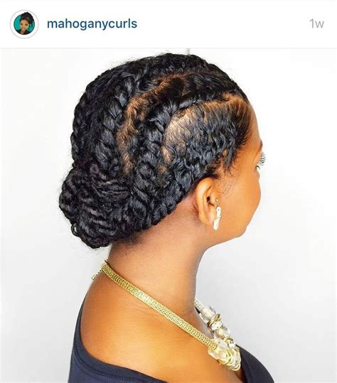 silky flat twists updo mahoganycurls flat twist natural hairstyles pinterest