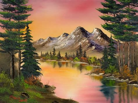 bob ross painting free bob ross autumn paintings trees