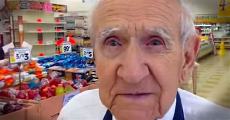 94 year grocery store bagger gets laid inspirational