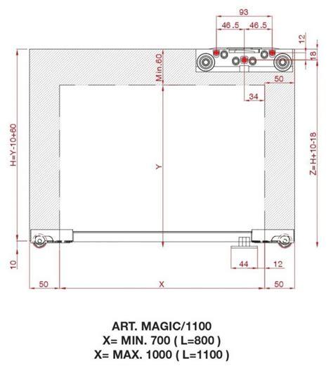 Porta Scorrevole Con Binario by Scorrevole Porta Con Binario A Scomparsa Magic Da 1100