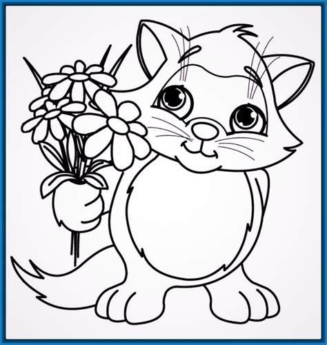 imagenes para colorear gato d 237 a de dibujos para colorear de gatos tiernos imagenes
