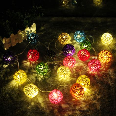 rattan lights shaped rattan lights string