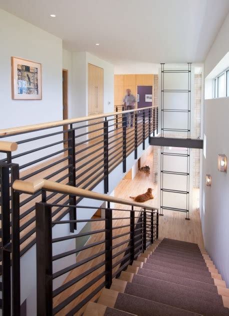 contemporary stair rails and banisters metal stair railings modern black metal stair railing with