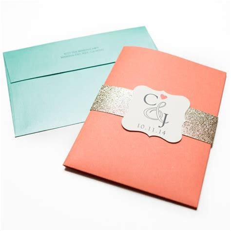 coral wedding invitations coral and turquoise wedding invitations chic