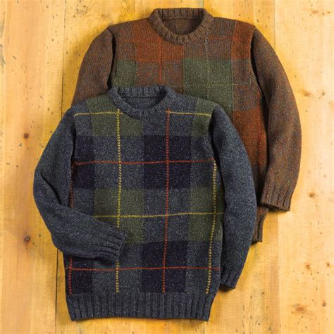 Sweater Switer National Geographic Gps scottish tartan wool sweater national geographic store