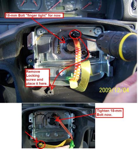 srs replacement volvo forums volvo enthusiasts forum diy 1998 volvo v70 replacing clockspring airbag horn contact unit volvo forums volvo