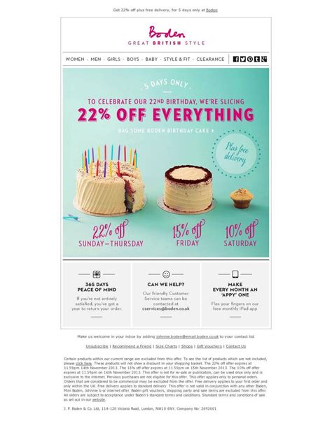 20 Best Triggered Emails Images On Pinterest Birthday Newsletter Template Free