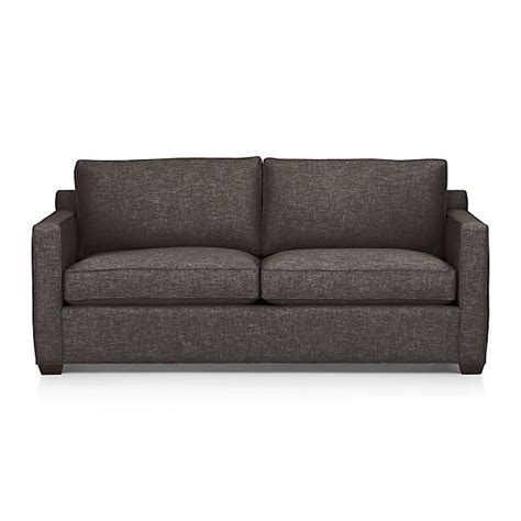 davis sofa davis queen sleeper sofa graphite crate and barrel