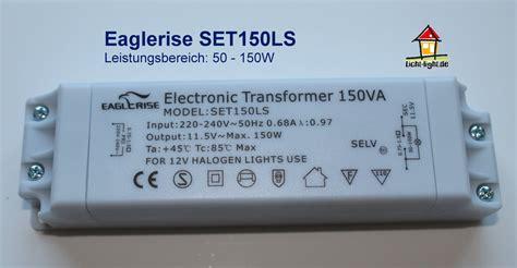 electronic transformer halogen ls eaglerise set150ls licht light