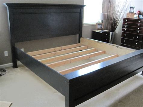 California King Bed Frame Plans Creative Ideas For You Farmhouse Bed California King Plans