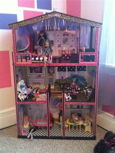 dolls house diy diy monster high doll house diy crafts pinterest