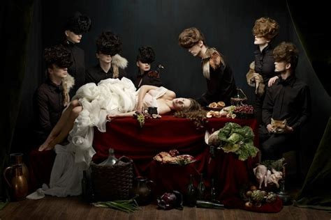 photo series inspired  baroque  life paintings