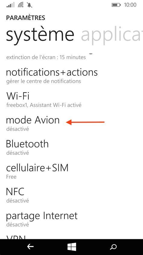 Comment activer le mode avion sur mon Lumia 735 ? - Varcap