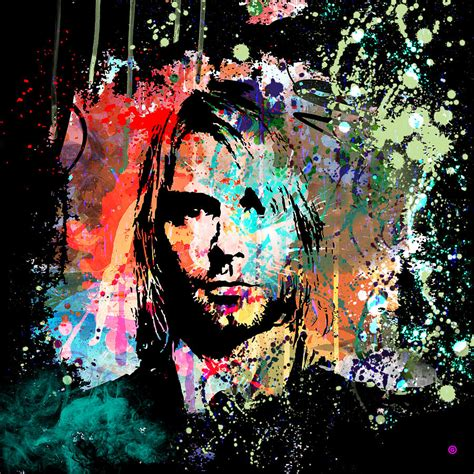 Home Decorative Pillows by Kurt Cobain Portrait Painting By Gary Grayson