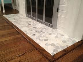 Edwardian Fireplace Insert - retro ranch reno operation hearth re tile grouted goodness