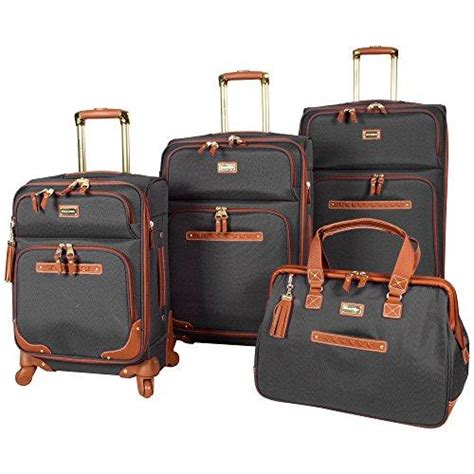 shop steve madden 4 luggage with spinner wheels black luggage factory
