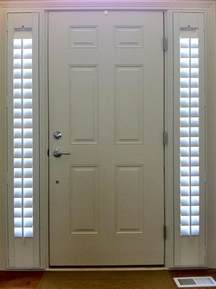 Front Door Window Coverings Entry Door With Two Side Lights Shutters Stay And Tight To The Door Frame When Opening