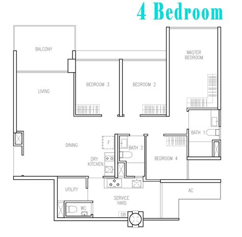 floor plan with 4 bedrooms wandervale ec wandervale ec choa chu kang ave 3