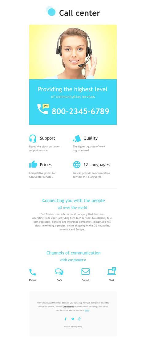 responsive newsletter template call center responsive newsletter template 55586