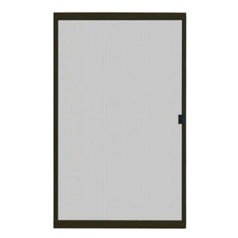 Sliding Patio Screen Doors Home Depot by Unique Home Designs 48 In X 80 In Standard Bronze Metal