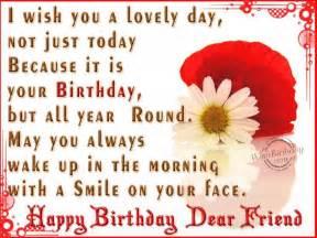Happy birthday wishes dear friend