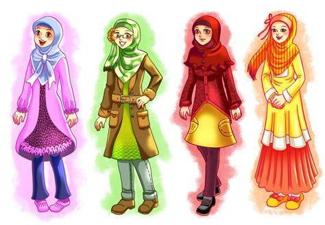 gambar kartun muslimah  keren  cantik michaelrokk