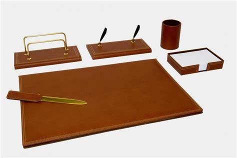 set scrivania pelle set scrivania 6 pz in pelle quot gemini quot made in italy orna