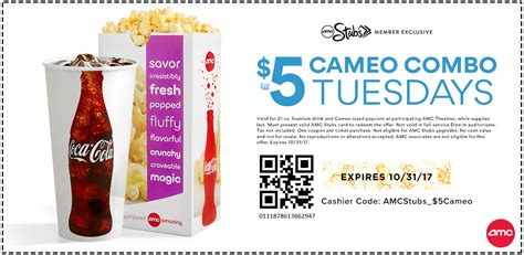 printable amc movie tickets amc theatres movie tickets only 5 every tuesday