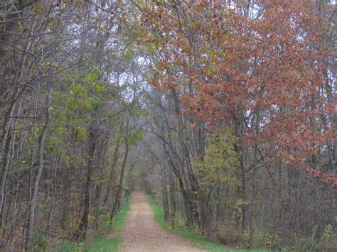 enjoy the galena river trail on a chilly fall day to