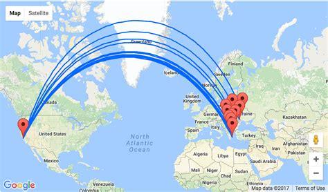 san jose flight map mega post san jose california to ukraine greece