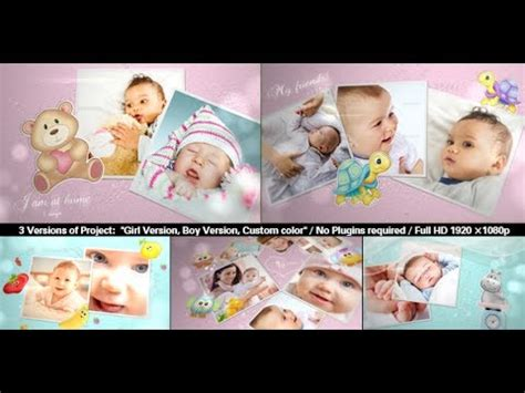 after effects free templates baby baby photo album lovely slideshow after effects