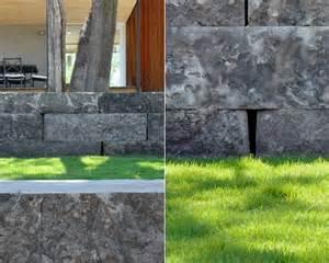modern retaining wall modern limestone retaining wall outdoor voortuin