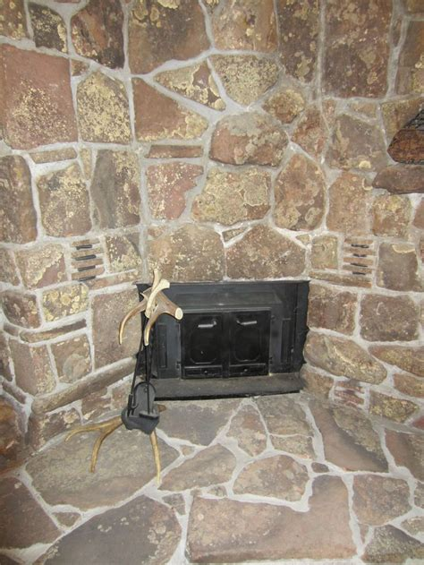 Moss Rock Fireplace by Moss Rock Fireplace Showing Current Wood Stove Insert