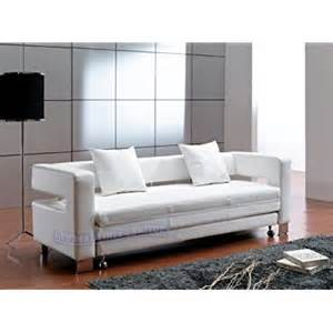 White Sofa Sleeper Contemporary Furniture Modern White Leather Sofa Bed Sleeper Living Room