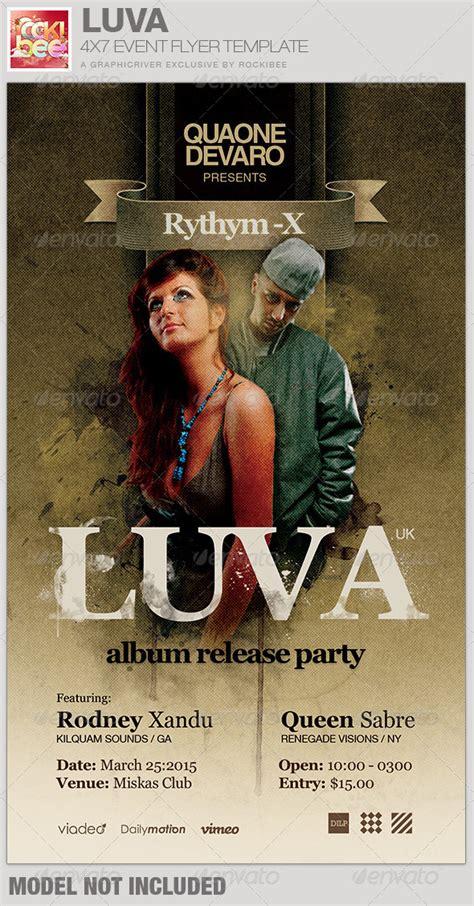Luva Album Release Flyer Template Graphicriver Graphicriver Iii Flyer Template