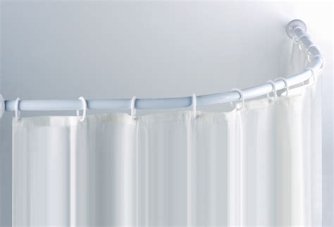 L shaped curtain rod architecture footcap
